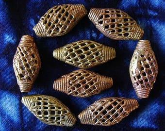 8 beads African brass BB28