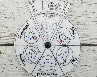 Felt feelings wheel