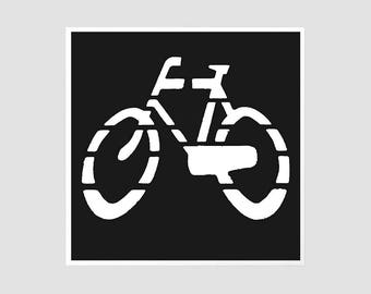 Bike Road Sign - 8x8 Original Signed Photography