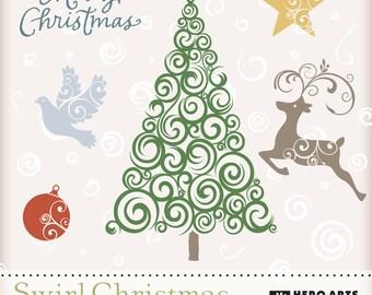 Hero Arts Swirl Christmas Digital Kit DK024