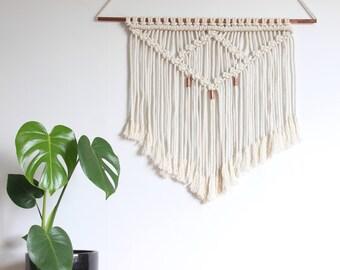 Macrame Wall Hanging/ Bohemian Wall Hanging/Copper Wall Hanging/ Wall Decor/ Modern Macrame