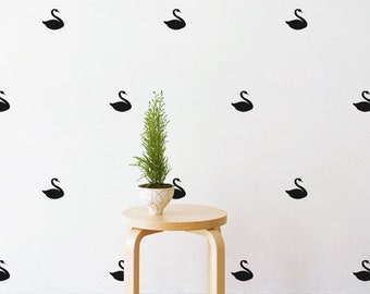 Mini Swan   Removable Wall Decal & Sticker for Home, Office, Nursery