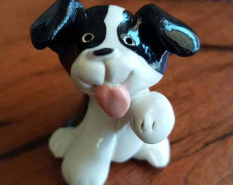 Little Guys Border Collie Ceramic Figurine