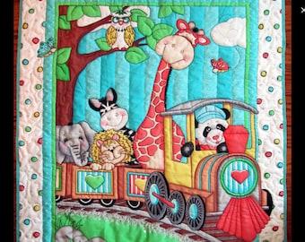 Bazooples choo choo train quilt