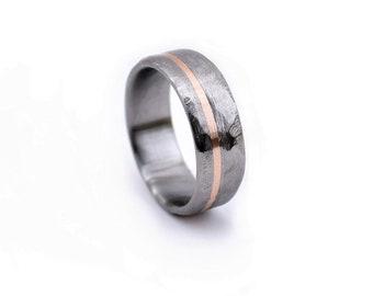 Wedding Ring, Engagement Ring Rose Gold, 18k Rose Gold, Women's Wedding Ring, Modern Jewelry, Modern Ring, Rings, Handmade Ring, Titanium