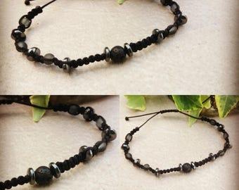Lava stone macrame bracelet