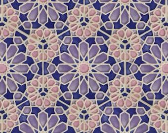 Hand Painted Moroccan Tiles - Ceramic Accent Tiles - Kitchen Backsplash Tiles - Decorative Tiles - Moroccan Coasters - Pastel Stoneware
