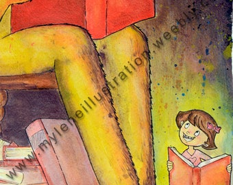 Watercolor reproduction, Monster library