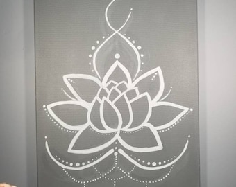 Lotus Flower, Lotus Flower Painting,