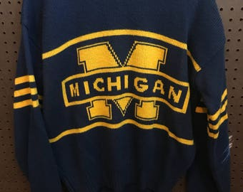 University Of Michigan Vintage 1984 Cliff Engle Sweater