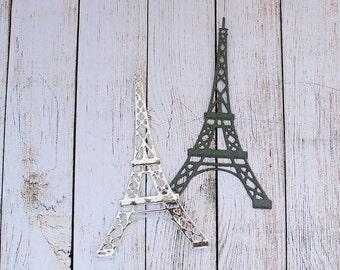 Eiffel Tower Die Cuts Embossed France Paris Card Making Scrapbooking Tags DIY Set of 6 pcs