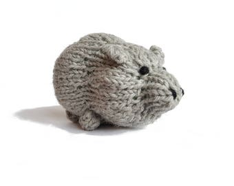 Robert the Adorable Pig! Knitted Toys, Stuffed Animal, cute stuffed pig, gift, plush pig, toddler toy, farm toy, kids, soft pig toy