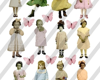 Digital Collage Sheet Children (Sheet no. F10) PNG file available-Instant Download