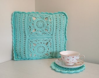 Decorative Cushion cover turquoise