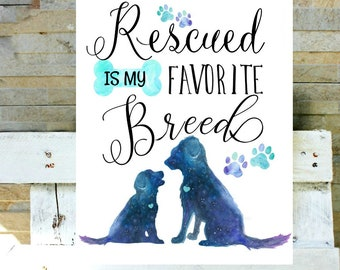 Rescued is my favorite breed. You can't buy love but you can rescue it.