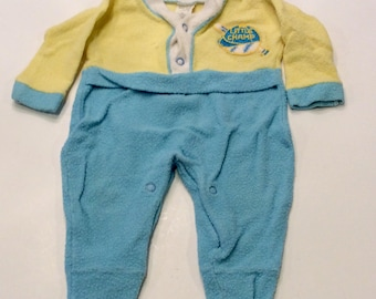 Vintage Terry Cloth Little Champ Baby Outfit