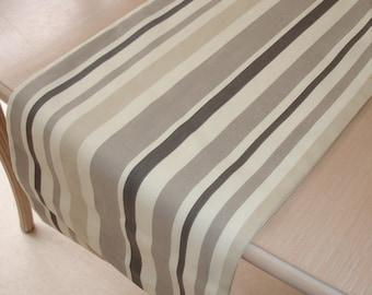 "72"" Table Runner 180cm Grey Brown Taupe Beige Cream Neutral Stripes NEW 6ft Striped Neutrals Stripe Gray"