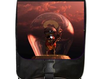 Robot in a Light Bulb - Black School Backpack