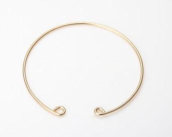 Brass Bangle, Bracelet Supplies, Handmade Bangle Matte Gold- Plated - 1 Pieces [BG0011-MG]