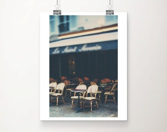 Paris photograph Paris cafe photograph Paris decor Paris print Paris cafe print French decor travel photography architecture print