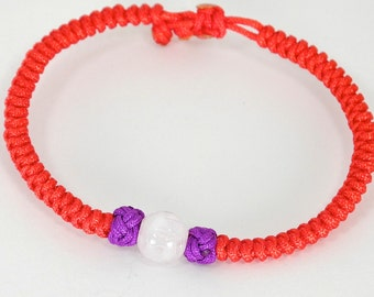 Jade Lamp Red String Bracelet