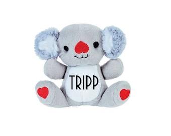 Personalized Valentines Day Koala; Valentine Koala Bear; Valentines Day Gift; Valentines Day Stuffed Animal; Valentines Day Bear; Koala