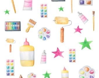 Arts & Crafts Themed Planner Stickers for Horizontal, Vertical ECLP, BuJo, TN, Kikki.K Filofax, Happy Planner etc