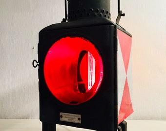 Industrial Design Railway lamp-Zugschlußleuchte vintage Lighting