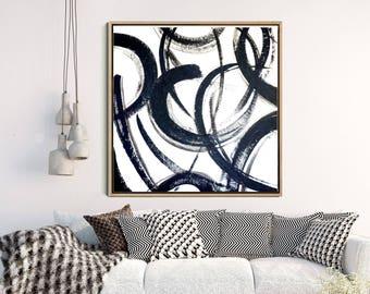 Black And White Minimalist Print, Abstract Art, Abstract Print, Large Wall Art,  Giclee Print, Home Decor, Wall Decor