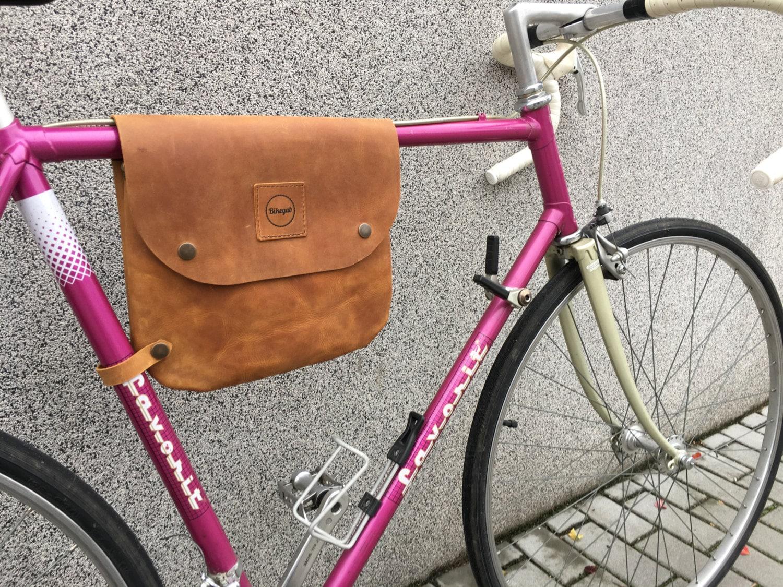 Fahrradtasche Leder / Fahrrad Rahmen Tasche Schulter Tasche