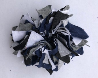 Cotton Scrunchie- G/W/B/B