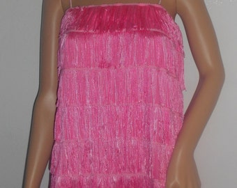 New adult small / medium pink 1920's flapper costume dress costumes