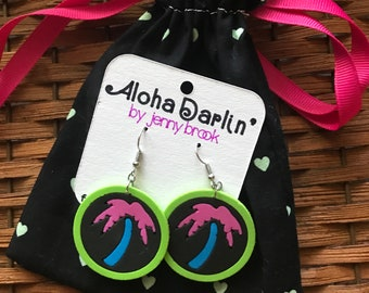 Lightweight, colorful beachy earrings!