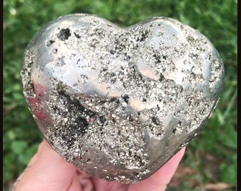 Pyrite Heart Crystal // Pyrite Crystal
