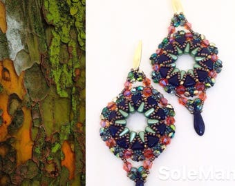 """Carioca Carnival"" weaving earrings"