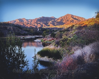 Landscape Photo | Sunset Mountain Art | Trabuco Canyon | California photo | Orange County Sunset | Saddleback Mountain Photo | Nature Print