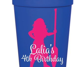 Moana Birthday Party- 16 oz. Reusable Plastic Stadium Cup- Minimum Purchase of 12 Cups!