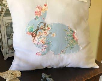 Rustic Bunny Pillow