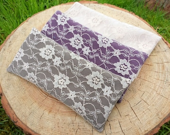 Lace Lavender Eye Pillow - Aromatherapy - Relaxation - Yoga - Meditation - Savasana