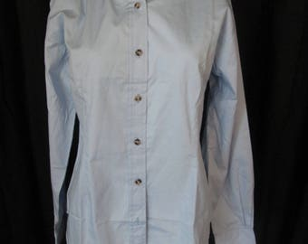 Womens Sierra Pacific baby blue long sleeve button front blouse new size small
