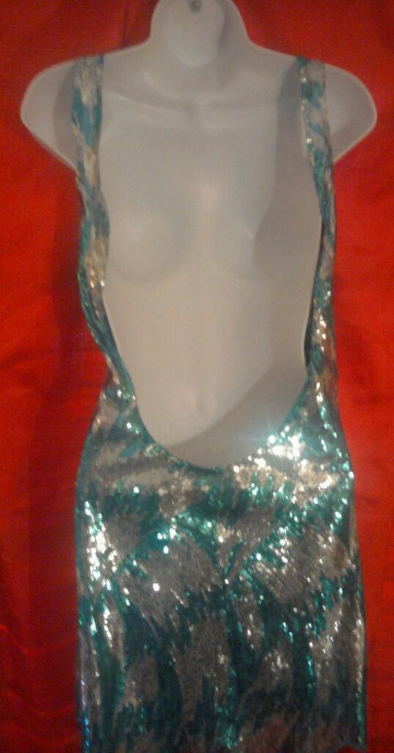 Sample Turquoise Sequined Holiday Sexy amp; The For Dress Silver Only Dress M Backless Size Sheath Mini Party Club Is Tunic This Listing vqSIw