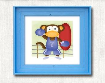 Dream big Little one, Illustration children, Children poster, Animal print, Kids gift, Baby room, Poster kids, Nursery Print, Kids Wall Art