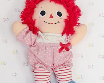 1989 Playskool Raggedy Ann Doll | Dolls for Girls | Girl Gifts | Granddaughter Gift | Niece Gift | 80s Toys | Raggedy Ann Collectible Doll
