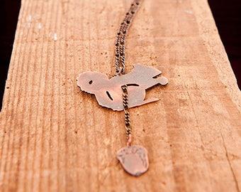 Red Squirrel Necklace