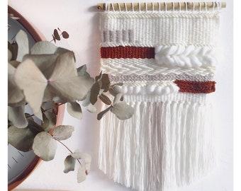 Bohemian woven wall hanging