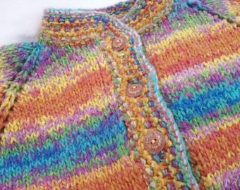 Double Knit Rainbow Children's Sweater Jacket