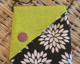 Sew Cute Bag-(Black n' White n Lime Green)