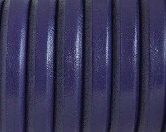 Purple licorice leather cord - 10mm x 6 mm -  First quality Spanish thick leather to make jewelry - DIY bracelets - Craft supplies