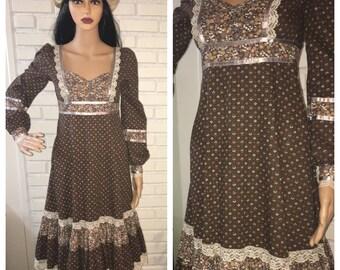 Vintage 70's Gunne Sax Prairie Dress