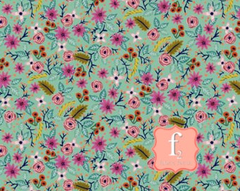 Robin's Egg High Meadow - Meriwether - Amy Gibson - Windham Fabrics 42634-10 - You choose the Length